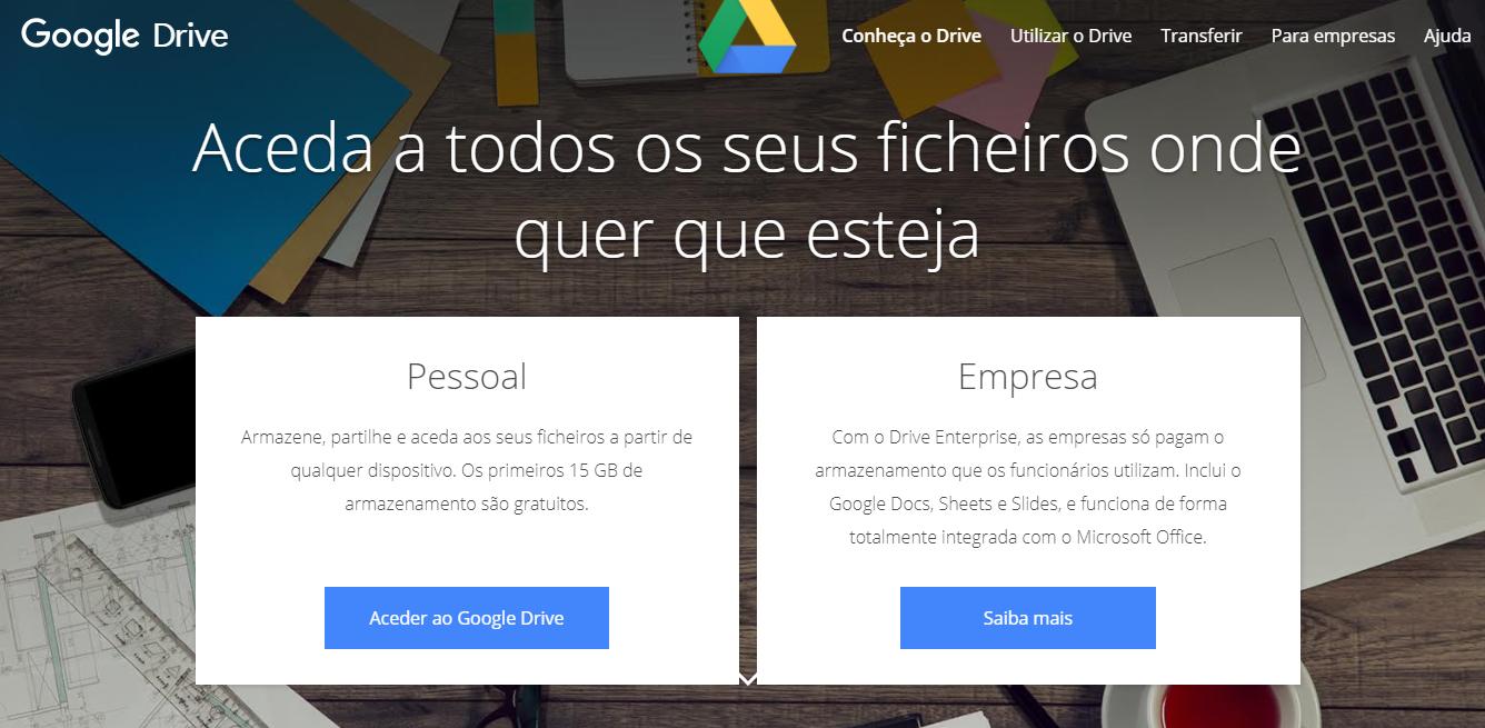 ferramentas organização de eventos- google drive